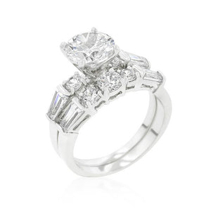 Engagement Set with Large Center Stone - R08334R-C01