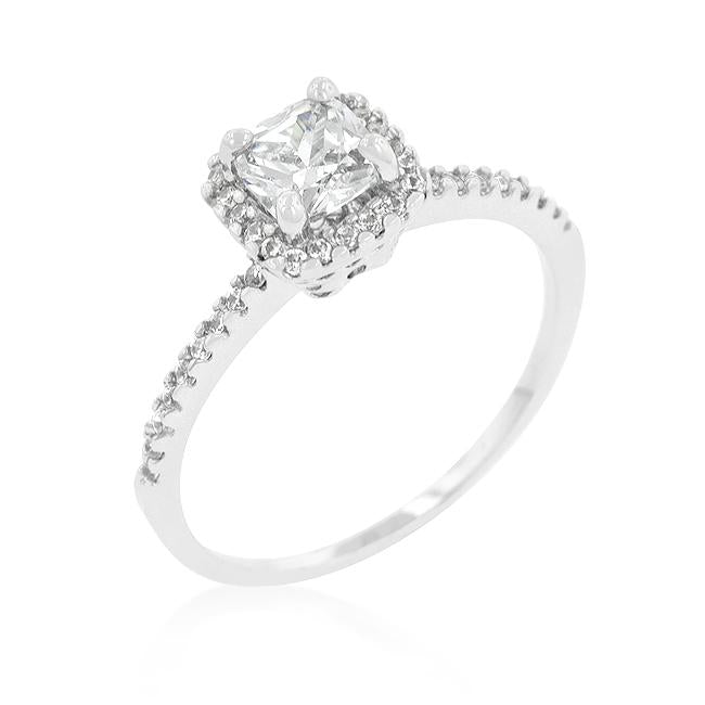 Princess Cut Halo Engagement Ring - R08335R-C01