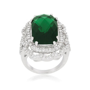 Green Cocktail Crest Ring - R08379R-C40