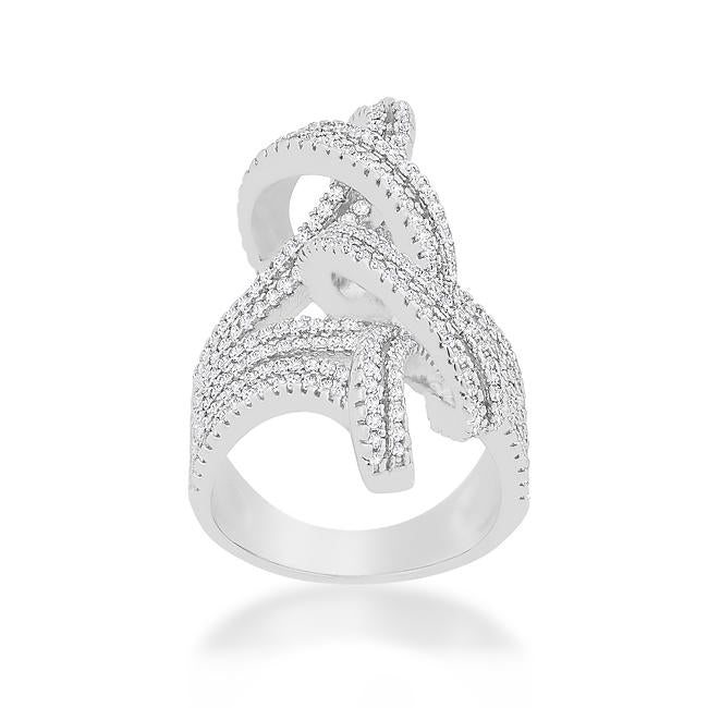 Micro-Pave Knot Ring - R08407R-C01