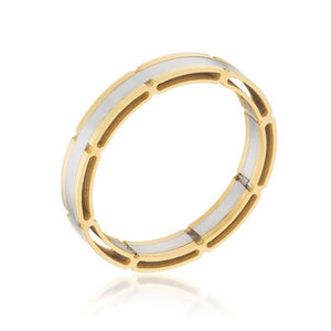 Two Tone Band Ring - R08434TV-V00