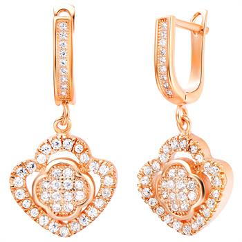 Rose Gold Earrings LSR214