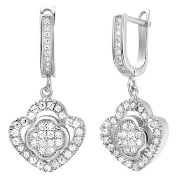 White Gold Earrings LSR215