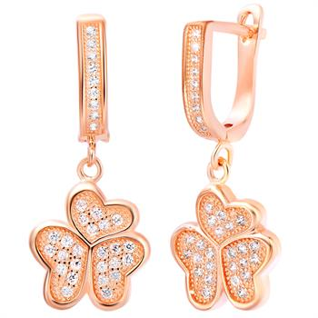 Rose Gold Earrings LSR216