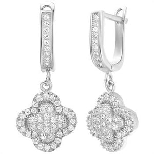 White Gold Earrings LSR237