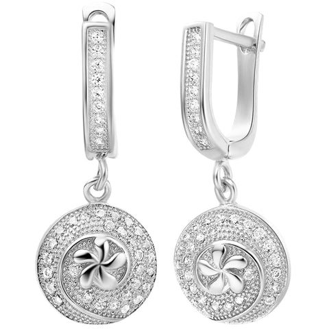 White Gold Earrings LSR239