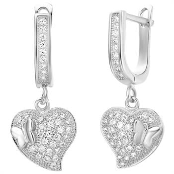 White Gold Earrings LSR243