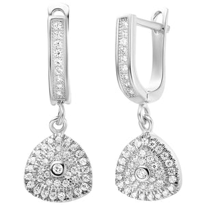 White Gold Earrings LSR247