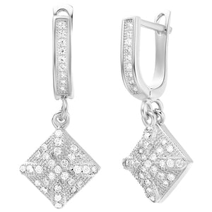 White Gold Earrings LSR249