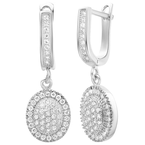 White Gold Earrings LSR251