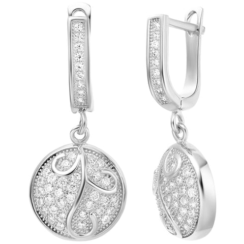 White Gold Earrings LSR255