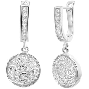 White Gold Earrings LSR257
