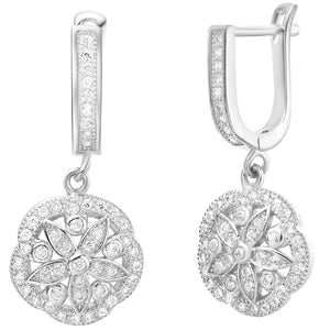 White Gold Earrings LSR259