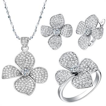 White Gold Jewelry Set LST001