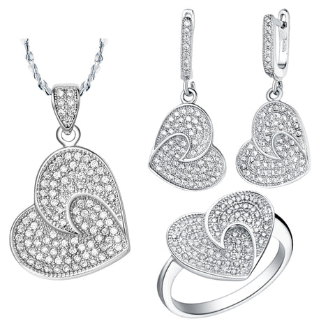 White Gold Jewelry Set LST002