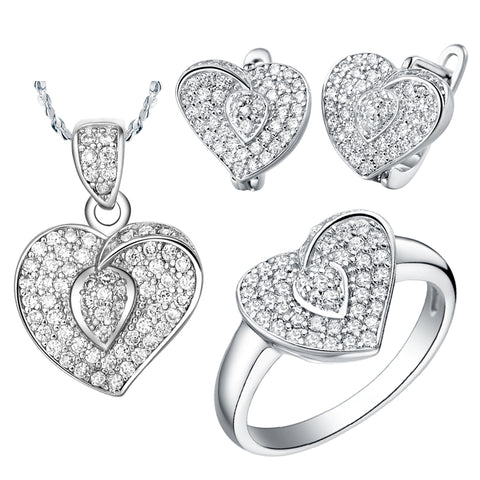 White Gold Jewelry Set LST003