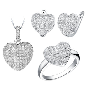 White Gold Jewelry Set LST004