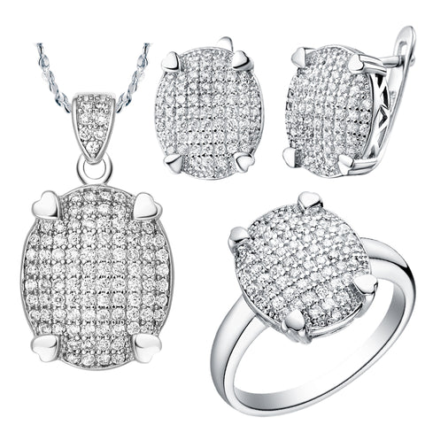 White Gold Jewelry Set LST005