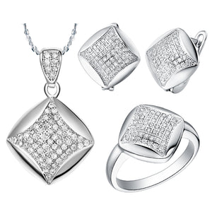 White Gold Plated Jewelry Set LST006