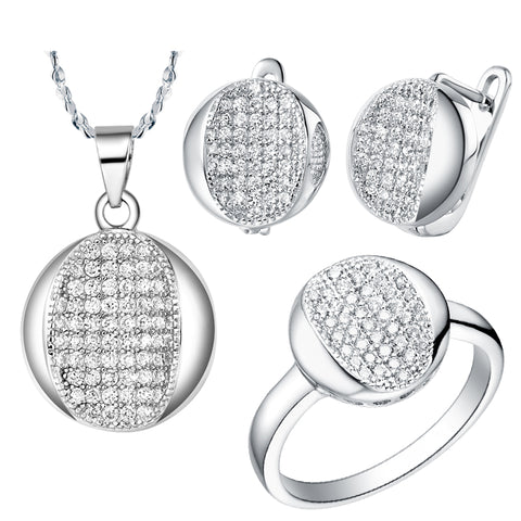 White Gold Jewelry Set LST007
