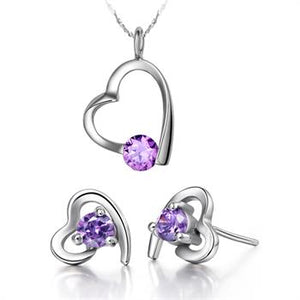 White Gold Jewelry Set LST016