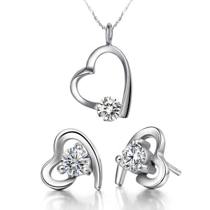 White Gold Jewelry Set LST017