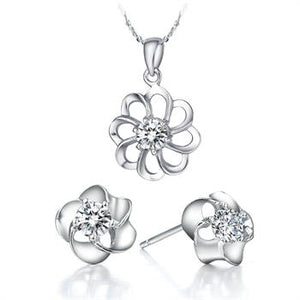 White Gold Jewelry Set LST018