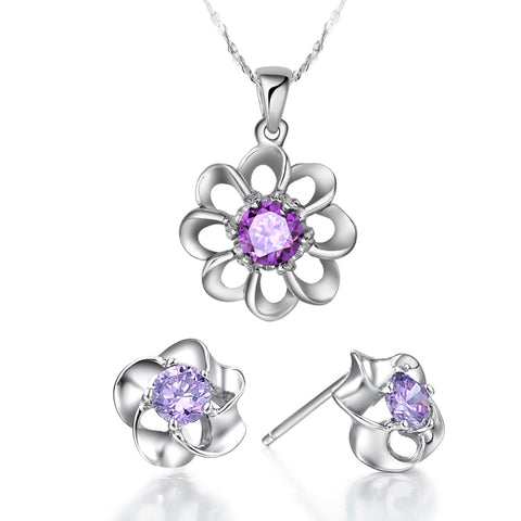 White Gold Jewelry Set LST019