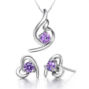 White Gold Jewelry Set LST020