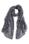'Abstract Banksia' Fine Cotton Scarf in Dusk