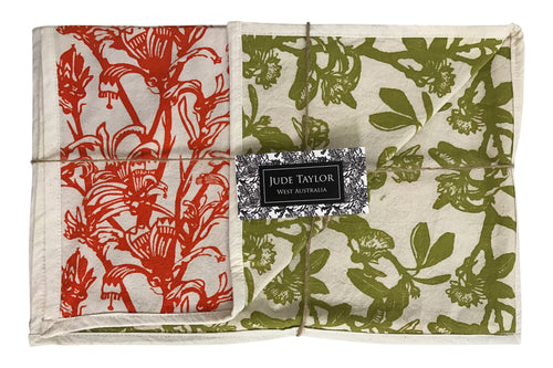 Jude Taylor placemats in Kangaroo Paw and Shark Bay Rose