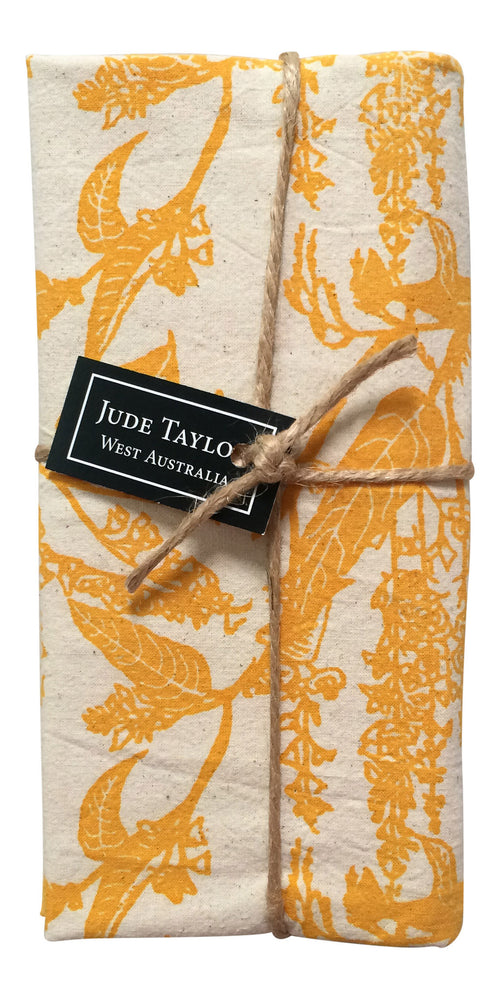 SALE - 25% OFF - Handprinted Napkin Set - Native Wisteria