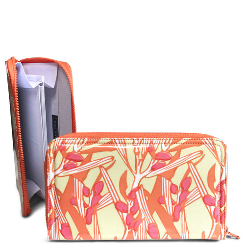 Travel Wallet - Wattle in Tangerine