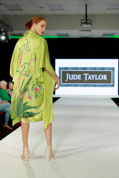 Hand Painted Silk Wildflower Kimono - Kangaroo Paw - WAS $350 -
