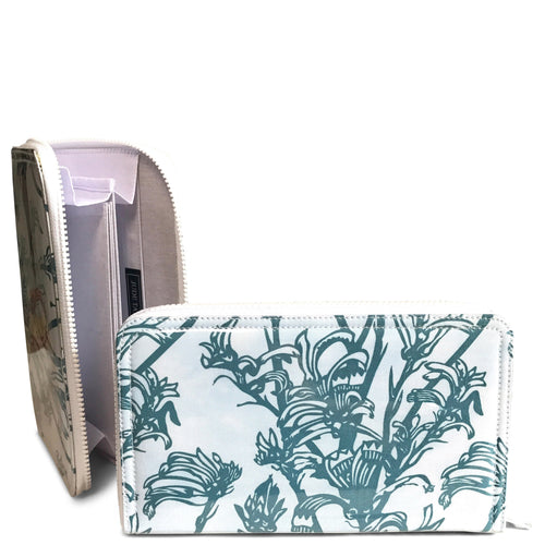 Travel Wallet - Blue Kangaroo Paw