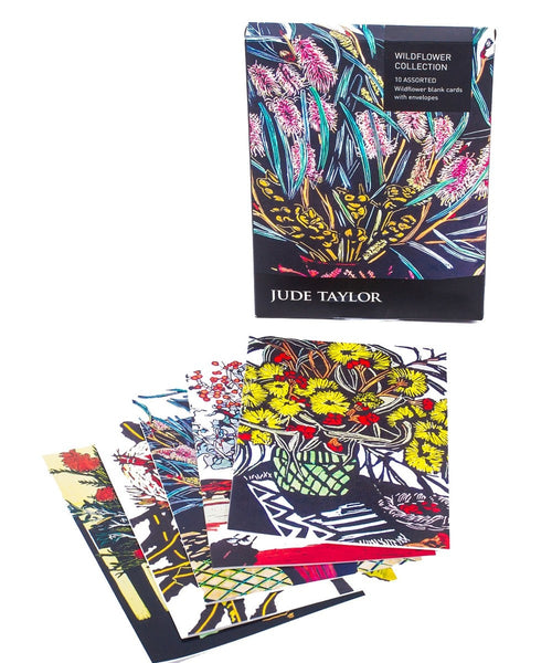 Jude Taylor Grevillea Wildflower Cards – pack of 10
