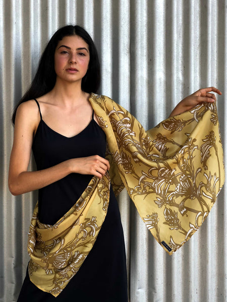 'Shark Bay Rose' Silk Scarf in Copper