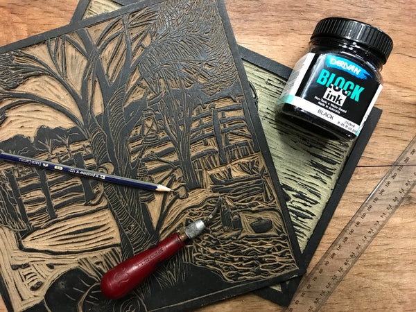Linocut Printing Workshop with Jude Taylor - 12 January 2019
