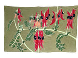 Hand Painted Silk Wildflower Wrap - Sturt Desert Pea - WAS $350 -