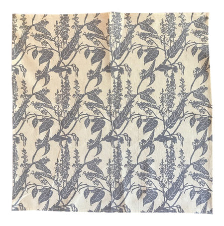 Handprinted Tea-Towel - Green Bottlebrush