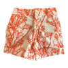 Kids Wildflower Shorts - Orange Kangaroo Paw