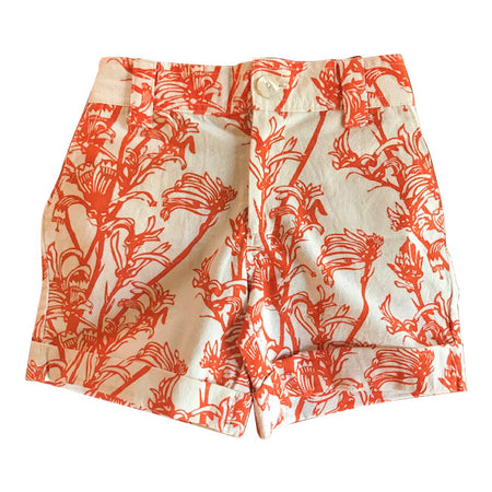 Kids Wildflower Shorts - Black Grevillea