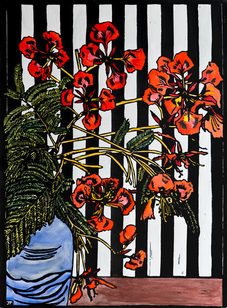 Poinciana and Stripe