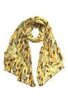 'Wattle' Fine Cotton Scarf in Saffron