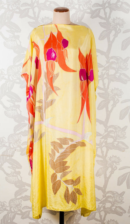Hand Painted Silk Batik Wrap - Illiyarri - WAS $350 -