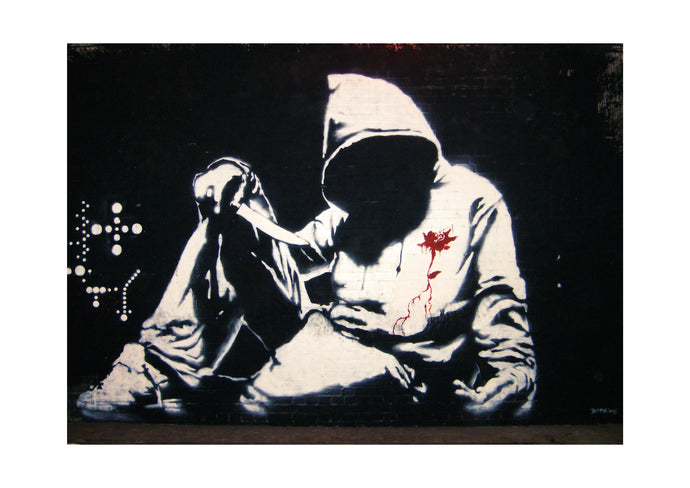 'Hoodie' Limited Edition Giclée Print by Stephen Pick | Quirky Street Art