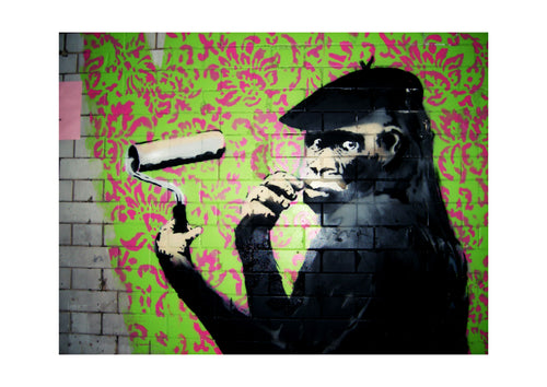 'Monkey' Limited Edition Giclée Print by Stephen Pick; Quirky Street Art