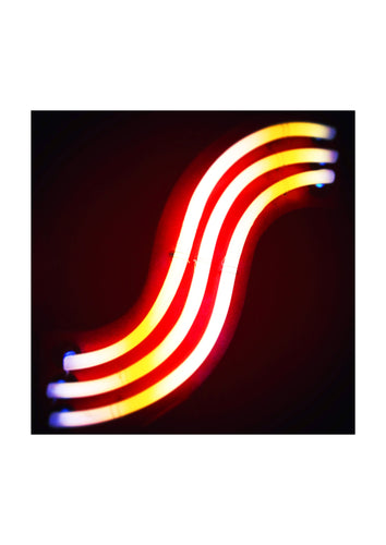 'S' Open Edition Giclée Abstract Neon Print by Stephen Pick