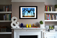 'Spider' Open Edition Giclée Print by Stephen Pick; London wall art; Lifestyle shot; Black frame
