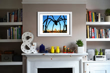 'Spider' Open Edition Giclée Print by Stephen Pick; London wall art; Lifestyle shot; White frame